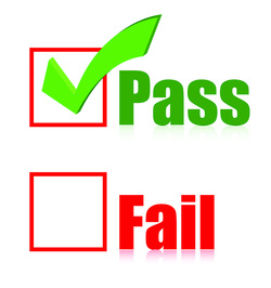 Pass fail checkbox with pass checked